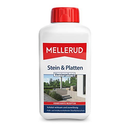 MELLERUD Stein & Platten Versiegelung – Wasserabweisender und lichtbeständiger Schutz von saugfähigen Untergründen im Innen- und Außenbereich – 1 x 0,5 l