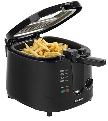 Bestron friteuse, voor 700 g frituurgoed, 2,5 liter, 1800 W, zwart