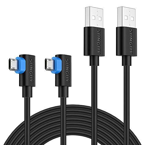 SUNGUY Micro USB Kabel rechtwinklig 1 m wendbar 90 Grad Micro USB Ladekabel fur Moto G5 PlusG5S Plus Huawei P10 Lite Galaxy S6 S7 Edge Sony Xperia Z5 Nokia 6 Schwarz 2 Stuck