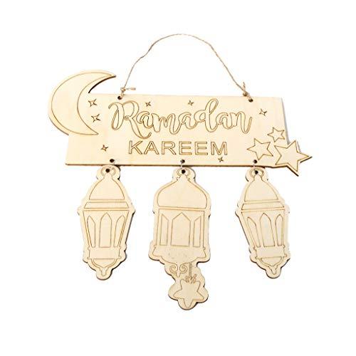 Lazder Eid Mubarak Muslimischer Islam Ramadan Dekorationen Hängende Laterne Anhänger Schild Ornament DIY Wanddekoration Partybedarf