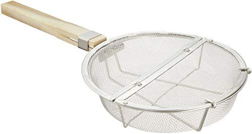 遠藤商事 業務用 本職用丸型ギンナン煎り 本体:ステンレス鋼/柄:天然木 日本 BGV07