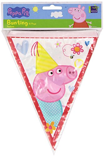 Peppa Pig Guirlande de fanions 21 x 380 cm