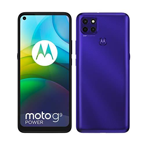 Motorola Moto G9 Power Dual-SIM 128GB ROM + 4GB RAM (GSM Only   No CDMA) Factory Unlocked Android Smartphone (Electric Violet) - International Version