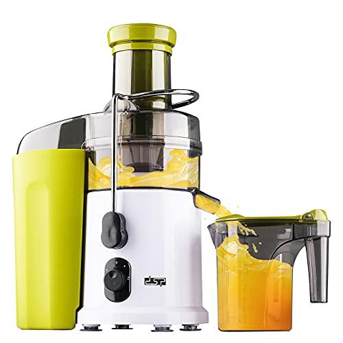 Licuadora de frutas y verduras, 600 W Juicer Extractor de Jugo, extractor de zumo en frío de 75 mm, licuadora de acero inoxidable con 3 velocidades, función antigoteo, fácil limpieza, sin BPA