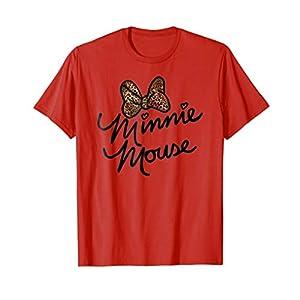 Disney Minnie Mouse Leopard Autograph T Shirt