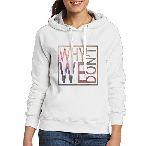 Why Don't We Logo W Women's Basic Ultra Soft Drawstring Long Sleeve Pullover Hoodie Sweatshirt Medium