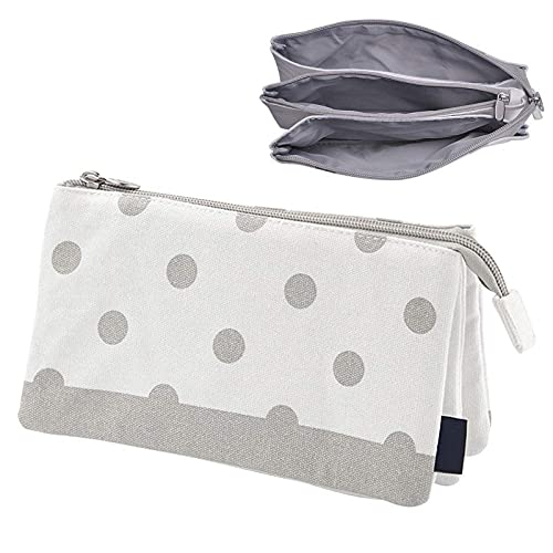 3 Layers Pencil Case Large Capacity Pouch Compartments Pen Bag for School Travel Toiletries Bag
