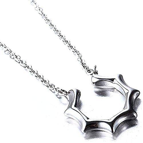 Collar Mujer Collar con colgante de acero de titanio Collar de acero inoxidable coreano Joyas Regalo de pareja Collar con colgante de sol Regalo grande y pequeño para mujeres Hombres Regalos