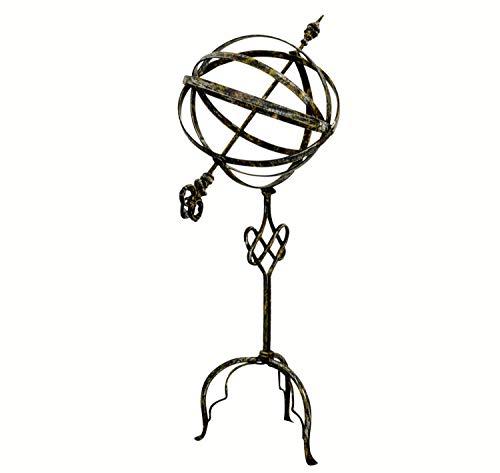 aubaho Sonnenuhr 74cm Eisen Garten Dekoration Nostalgie Antik-Stil