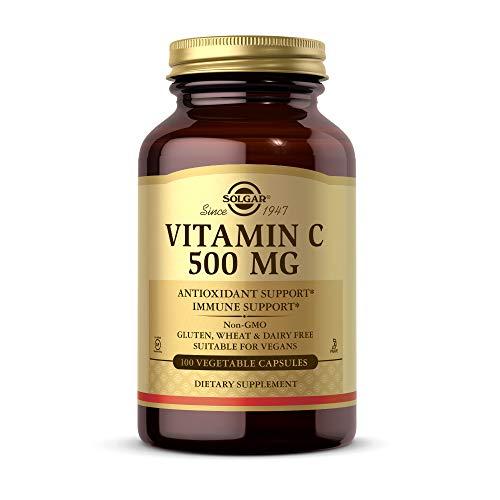 Solgar 500 mg Vitamin C Vegetable Capsules - Pack of 100