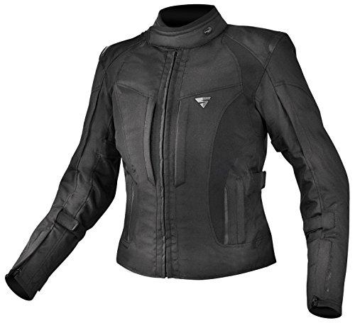 SHIMA Volante Wasserdichte Textil Motorradjacke für Damen mit Protektoren, Black