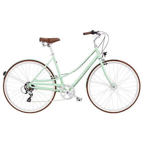 ELECTRA Loft 7D EQ 5810 - Bicicleta de ciudad para mujer (7 velocidades, 28'), color verde