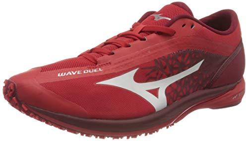 Mizuno Wave Duel, Zapatillas para Correr Hombre, HighRiskRed/Wht/BikingR, 45 EU