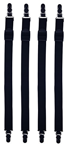 Shirt-Stays (Hemd-Halter) - 2 Paar - Damit das Hemd in der Hose bleibt! (one size.)