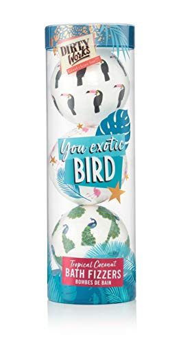 Dirty Works You Exotic Bird Tropical Coconut Bath Fizzers Festive Gift Set