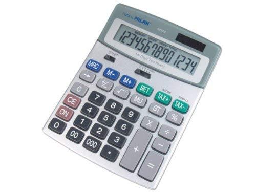 Milan 40924BL - Calculadora de sobremesa, 14 dígitos