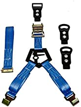 N-Fab BM1TSBL Rapid Tire Strap Universal Bed Mount Gloss Blue,Gloss Black