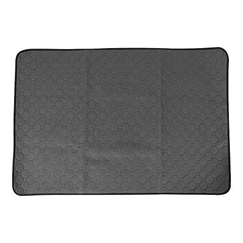 Pet Pee Pad, 23.62x17.72/26.38x19.69/39.37x26.38 Washable Pet Dog Cat Pee Pad Reusable Potty Urine Training Pads Diapers Bed Sofa Mattress Cover (L-Grey)