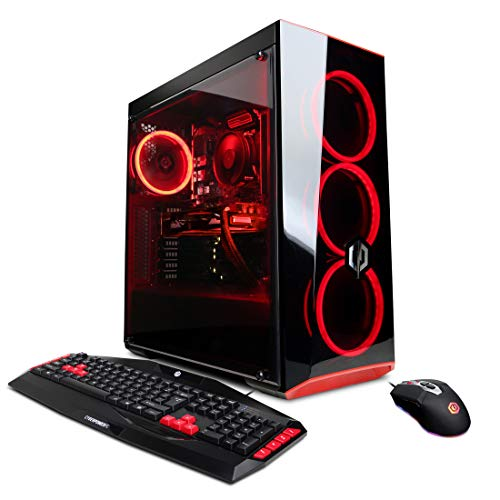 CYBERPOWERPC Gamer Xtreme VR GXiVR8480A Gaming PC (Intel Core i5-9400F 2.9GHz, 8GB DDR4, NVIDIA GeForce RTX 2060 6GB, 120GB SSD, 1TB HDD, WiFi & Win 10 Home) Black