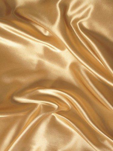 Mk Collection 4pc Soft Silky Satin Solid Color Deep Pocket Sheet Set (Gold, Full)