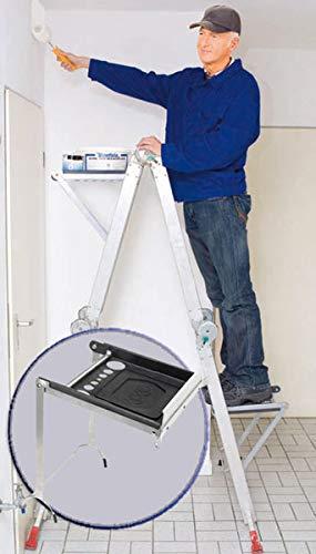 Leiter-Stehhilfe inklusive Werkzeugauflage für jede Sprossenleiter