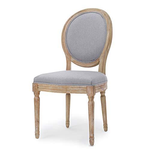 Christopher Knight Home Phinnaeus Fabric Dining Chairs, 2-Pcs Set, Light Grey