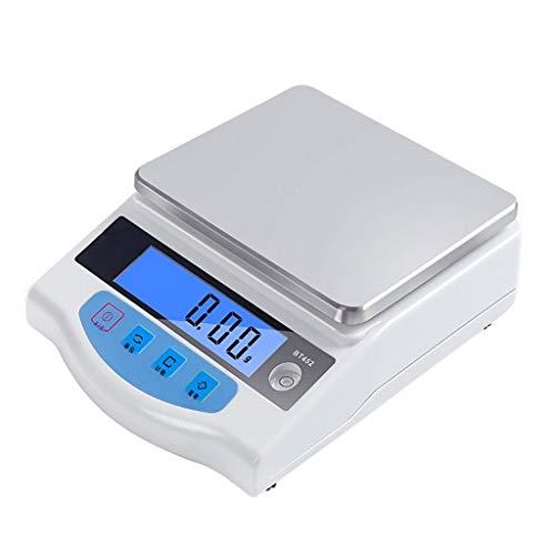 MZP Balanza electrónica analítica alta precisión Balanzas joyería digitales laboratorio Balanza de pesaje cocina 0.01 g Calibrado y listo con pantalla LCD Función de tara cero
