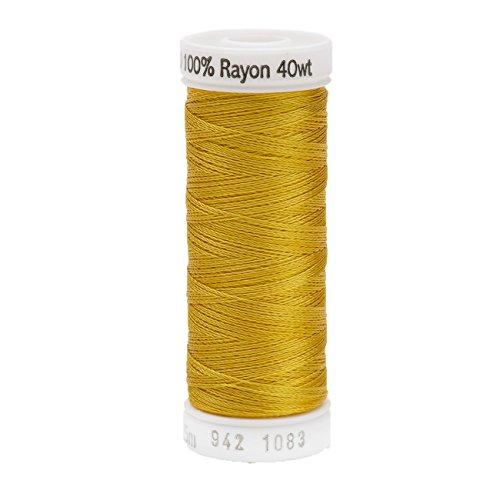 Sulky Bobine de Fil doré Brillant en Rayonne, Acrylique n°40 - Multicolore