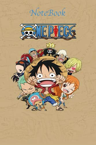 NoteBook: One piece notebook journal for everybody , gift anime , blank lined 120 White Pager, (6 x 9 inches)