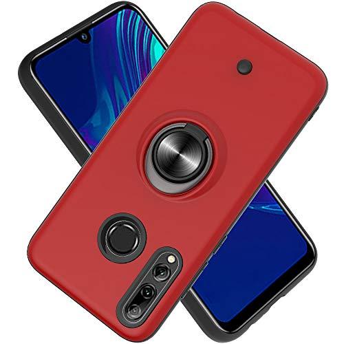 FAWUMAN Coque Huawei P Smart Plus 2019 /P Smart+ 2019/Enjoy 9S,Bouton de décompression,Gyroscope Rotatif,PC + TPU Housse résistant aux Chocs avec Support à Anneau Rotatif à 360 degrés -Rouge
