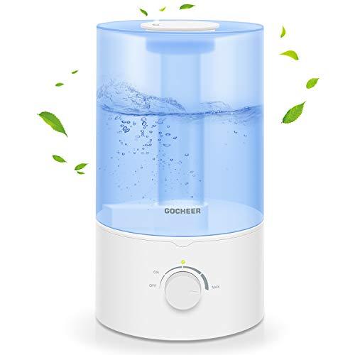 Umidificatore per la camera da letto, Gocheer 3.5L Cool Mist Humidifier per Baby Room Home Ultrasonic Humidifier Essential Oil Diffusore con Whisper Quiet Operation