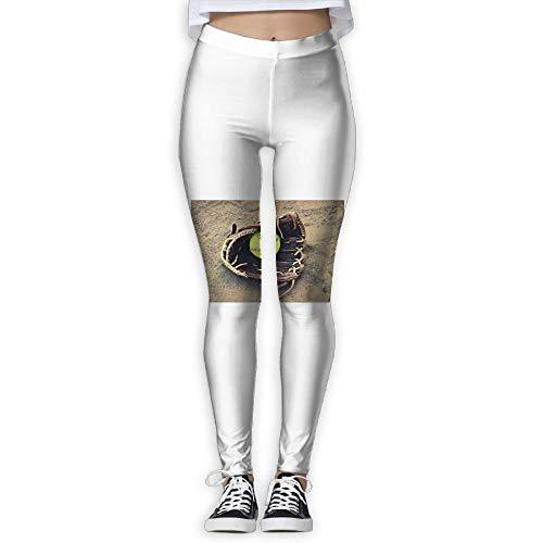 Girl Yoga Pant Softball High Waist Fitness Workout Leggings Pants-M
