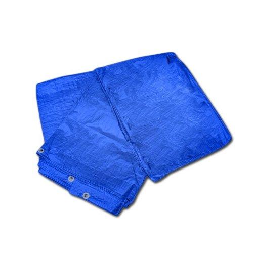 3m x 5m dekzeil waterdichte regenhoes sterk lichtgewicht grondzeil blauw 9'8