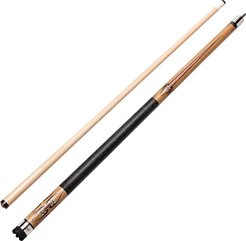 "Viper Sinister 58"" 2-Piece Billiard/Pool Cue, Natural Ash with Amber/Black Points, 19 Ounce"