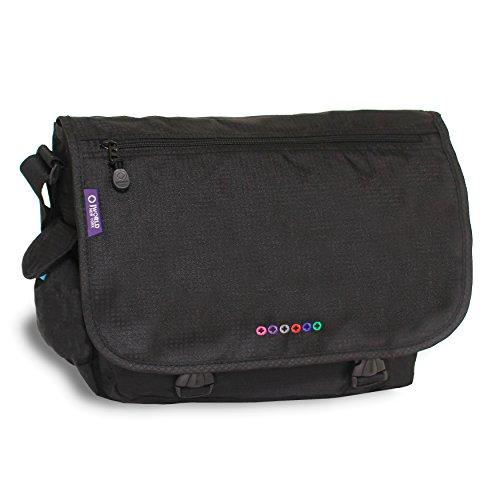 J World New York Terry Messenger Bag, Black, One Size