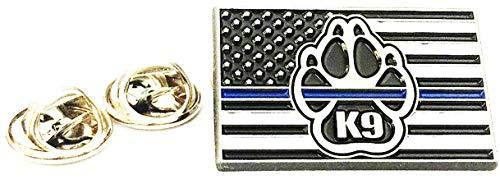 Thin Blue Line K9 Corps Flag Lapel pin