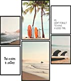 Papierschmiede® Mood-Poster Set Surfers Holiday | 6 Bilder