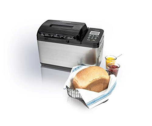 Zojirushi BB-PDC20BA Home Bakery Virtuoso Plus, 2 lb. loaf of bread, Stainless Steel/Black