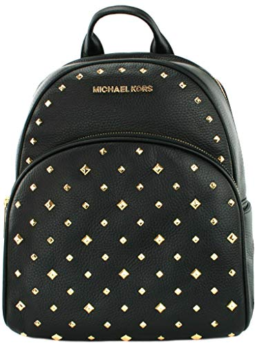 Michael Kors Abbey Zaino Borsa Pelle Borchiata, Nero (Nero ), Medium: 26 cm Width x 31 cm Height x 13.5 cm Depth