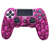 PS4 Skull Controller Cover Silicone RALAN,Silicone Gel Controller Cover Skin Protector Compatible for PS4 Controller (Skull Cover Thumb Grip x 8 )