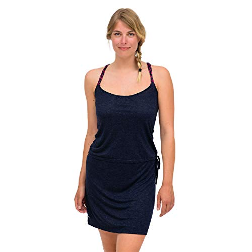 OxbOw M1ZETA Robe Femme, Deep Marine, FR : L (Taille Fabricant : 3)
