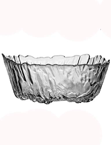 Keramische kom transparante kom sneeuw berg persoonlijkheid steen graan japanse servies loodvrije glazen kom huishouden fruit kom grote salade kom desktop fruit plaat decoratie 7,5 inch 1,2 l