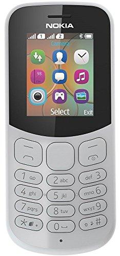 Nokia 130 Mobiltelefon (VGA Kamera, Bluetooth, extra lange Akkulaufzeit, Radio- & MP3 Player, Taschenlampe, Wecker, Dual Sim) grau, Version 2018