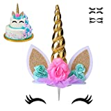 coonoe, Unicorn Cake Topper,Handmade Party Cake Decoration Supplies...