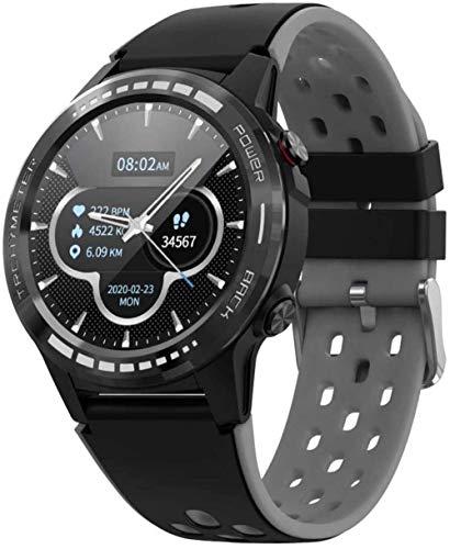 Reloj inteligente con monitor de ritmo cardíaco IP67, resistente al agua, altímetro, barómetro, brújula, deportivo, reloj inteligente para hombres y mujeres, color negro