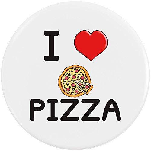 Stamp Press 58mm 'I Love Pizza' Pin Knopf-Abzeichen (BB00000014)