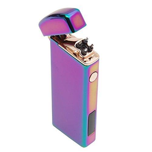 GoodsLand 【5color】 プラズマライター 軽量 コンパクト USB充電式 ダブルアーク 放電 クロス ターボ USB 給電式 電子 電熱 ライター GD-PLIGHTER-YT