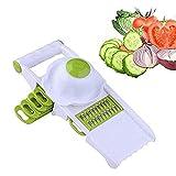 YIBOKANG Rebanadora de Vegetales, Asistente de Cocina Profesional, fácil de triturar Las Verduras y Frutas duras, con 5 Cuchillas reemplazables libremente, Hechas de Abdominales de Grado alimenticio