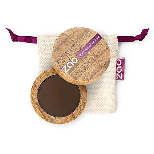 ZAO Matt Eyeshadow 203 brown Lidschatten Augenbrauenpuder Eyeliner Cake Pro in nachfüllbarer Bambus-Dose (bio, Ecocert, Cosmebio, Naturkosmetik)