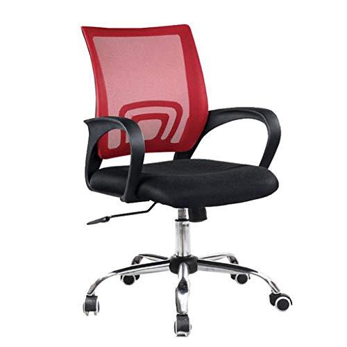 XKUN Silla de Oficina Silla de Computadora Silla de Oficina de Moda Silla de Computadora para el Hogar Silla de Sala de Conferencias Sillón Personalizado 360 Rotación Venenosa Elevación,Rojo